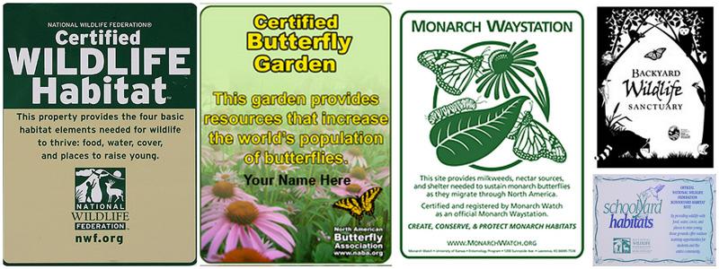 Certified Backyard Habitat the metropolitan field guide wildlife habitat certification - the